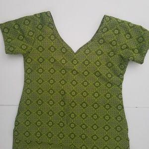 ⚡3/$12⚡ Vintage Boho Pattern Green Tunic